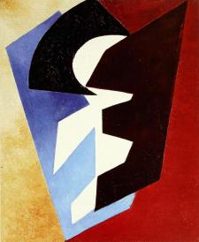 Aleksandra Ekster, Composition. Movement of Planes. 1917-18 Oil on canvas. 92.5 x 76.9 cm