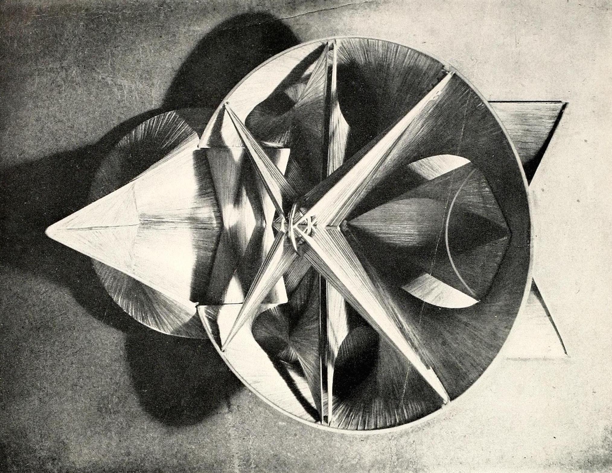 """Antoine Pevsner, fresco (1944), brass and oxidized tin, 20"""" x 28"""""""