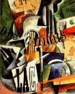 Liubov Popova, Italian Still Life, 1914 Oil, plaster, and paper collage on canvas. 61.5 x 48 cm