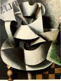 Liubov Popova, Jug on Table. Plastic Painting, 1915 Oil on cardboard, mounted on panel, 59.1 x 45.3 cm