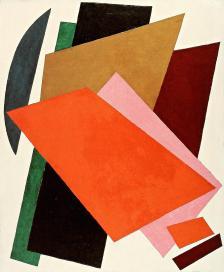 Liubov Popova, Painterly Architectonics, 1917 Oil on canvas, 107 x 88 cm