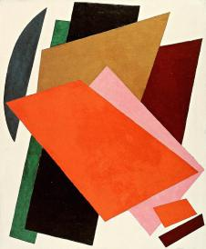 Liubov Popova, Painterly Architectonics, 1917 Oil on canvas, 107 x 88 cm
