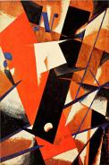 Liubov Popova, Spatial-Force Construction, 1921 Oil over pencil on plywood,124 x 82.3 cm