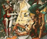 Nadezhda Udaltsova, Composition, 1913 Oil on canvas, 111.5 x 133 cm