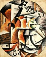 Nadezhda Udaltsova, Guitar Fugue. 1914-15 Oil on canvas. 70.3 x 50.4 cm