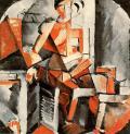Nadezhda Udaltsova, Red Figure, 1915 Oil on canvas, 70 x 70 cm