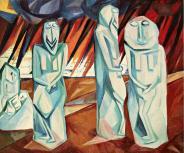 Natalia Goncharova, Pillars ofSalt, 1908 Oil on canvas, 80.5 x 96 cm