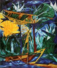 Natalia Goncharova, Yellow and Green Forest, 1913 Oil on canvas, 102 x 85 cm