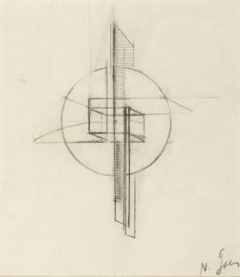 Sketch 1917 by Naum Gabo 1890-1977