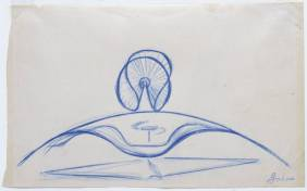 Sketch for 'Spheric Theme' 1935-7 by Naum Gabo 1890-1977