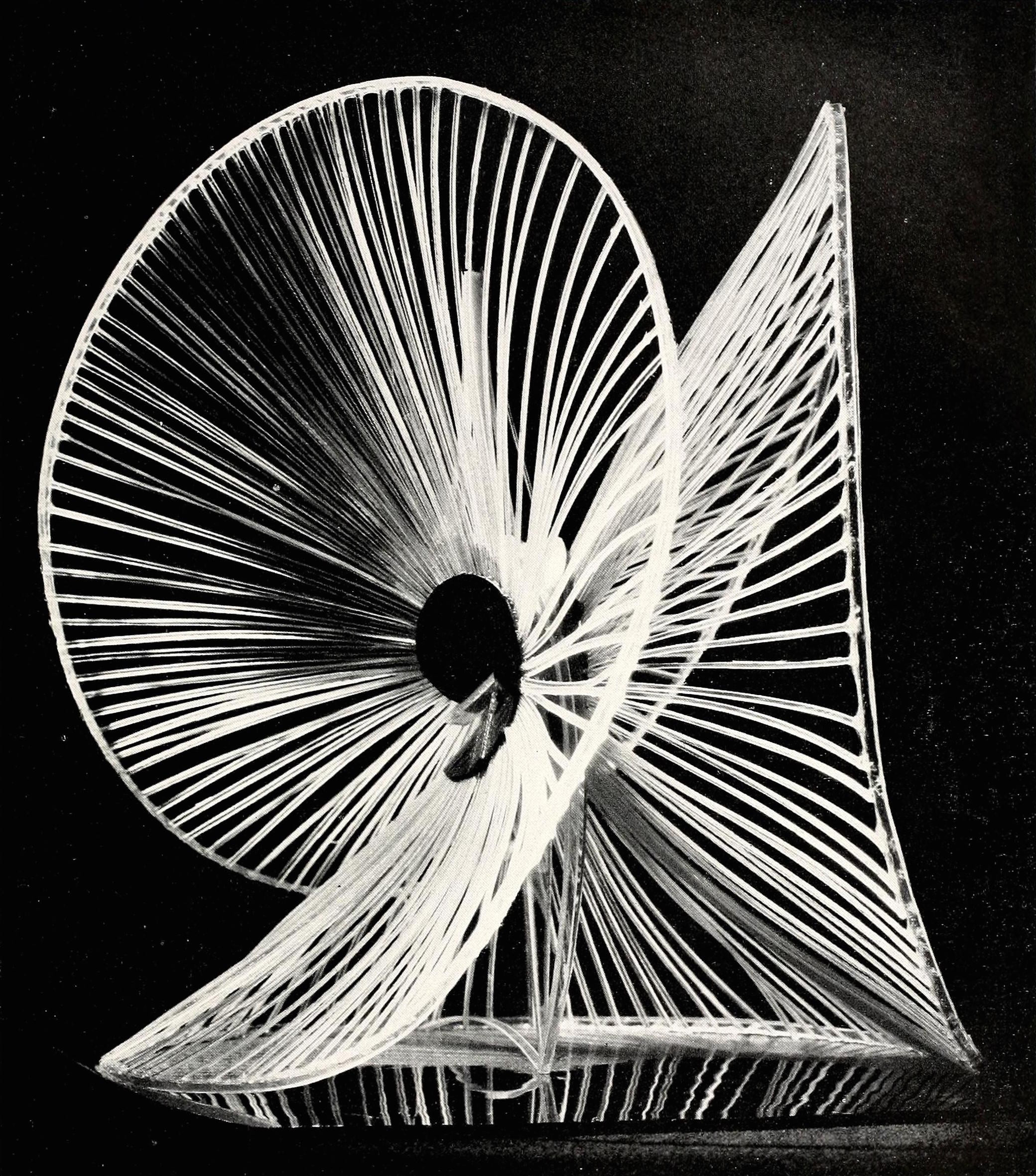 Naum Gabo, sphere construction of a fountain (1937) plastic 16 inches high