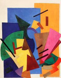 Olga Rozanova, Non-Objective Composition (Flight ofanAirplane), 1916 Oil on canvas, 118 x 101 cm