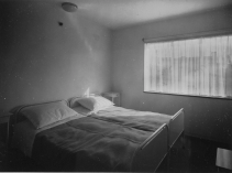 Dr. Lossen & Co. Interior view of a bedroom, Weissenhofsiedlung, Stuttgart, Germany 1927 or later