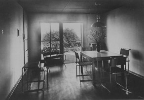 Dr. Lossen & Co. Interior view of the living room of House 17 showing furniture designed by Marcel Breuer, Weissenhofsiedlung, Stuttgart, Germany 1927a