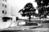 Otto Feucht, Stuttgart- Forchen an der Straßenbiegung am Weißenhof 1928