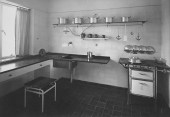Unknown Interior view of the kitchen of House 8, Weissenhofsiedlung, Stuttgart, Germany 1927 or later2