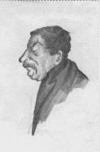 J.V. Stalin sketched by N.I. Bukharin. April 1929