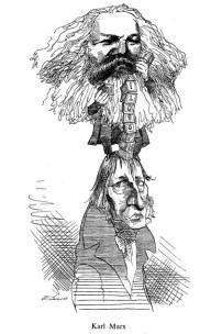 Karl Marx and G.W.F. Hegel
