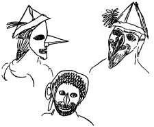 Sketch of three characters for a play