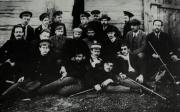 Bukharin, third from right, second row, with a group of exiles in Onega, Arkhangelsk district (1911)