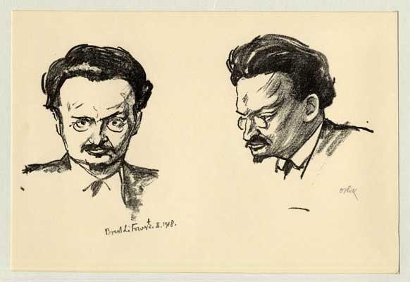 Emil Orlik- Leon Trotsky - double portrait