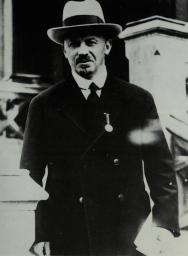 Nikolai Bukharin in one of the despised Kremlin suits, London early 1930s