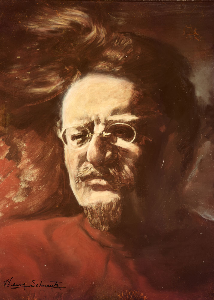 Painting of Trotsky by Henry Schnautz, 1950s