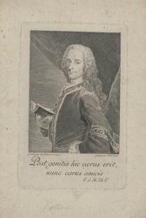 Bildnis des Voltaire Jean-Joseph Balechou - 1752 - Halberstadt, Gleimhaus