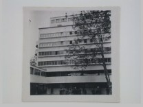 Dedoyard, C. Exterior view of the Narkomfin (People's Commissariat for Finance) Apartment Building, 25 Novinskii Boulevard, Moscow, September 1932b