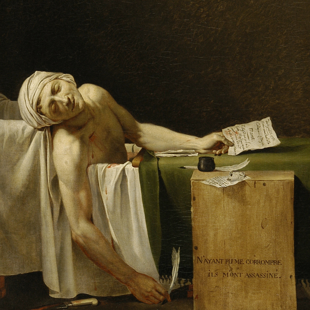 The death of Marat and the death of art