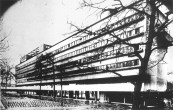 View of the Narkomfin Communa House living block, early 1930s