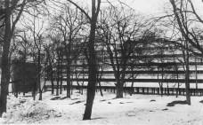 Winter view of the Narkomfin Communal House, early 1930s