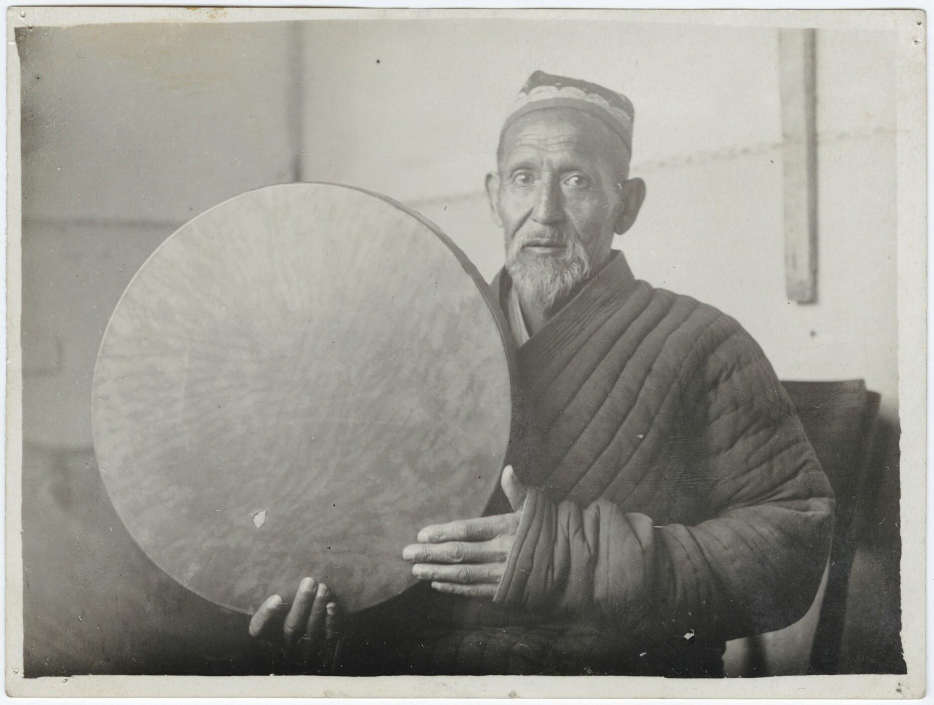 Austa Alim Kamilov, famous drummer of the Uzbek Muscial Theatre, Soviet Central Asia