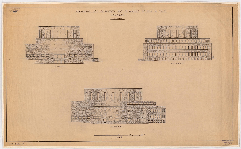 Hans Poelzig (1869-1936) Bebauung von Lehmanns Felsen, Halle_Saale (1927)b