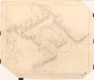 Hans Poelzig (1869-1936) (?) Bebauungsplan für die Zentralanlage, Rüstringen bei Wilhelmshaven (1913)