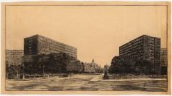 Hans Poelzig Erweiterung des Reichstags und Neugestaltung des Platzes der Republik, Berlin-Tiergarten (1929)a