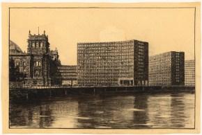 Hans Poelzig Erweiterung des Reichstags und Neugestaltung des Platzes der Republik, Berlin-Tiergarten (1929)f