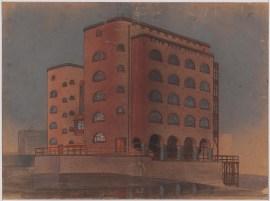 Hans Poelzig Fabrikgebäude Werdermühle, Breslau (1907-1908)f