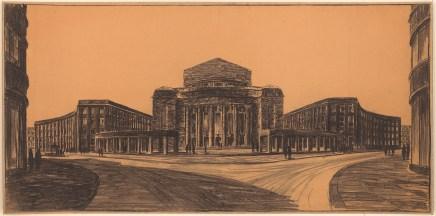 Hans Poelzig Neugestaltung der Umgebung des Bülowplatzes (Scheunenviertel), Berlin. Lichtspielhaus Babylon und Wohnungsbauten (1927-1929)a