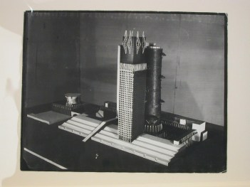 Ivan Leonidov, Photograph of a model for the Narkomtiazhprom (People's Commissariat of Heavy Industry) Building, Moscow, 1934 or later PH1987-0268