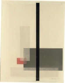 Lazlo Moholy-Nagy (1894-1946) Komposition, from- Meistermappe des Staatlichen Bauhauses (Söhn 210-6; Weber 6.6) lithograph in colours, 1923, on thin wove paper, signed in pencil