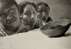 "Mexican women mourning over the coffin of a dead boy, during the ""Maguey"" episode"