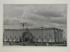 Meyer, Hannes Exterior view of the Ukrainian Pavilion, 1939 Soviet Union Agricultural Exhibition, Moscow, 1941