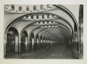 Meyer, Hannes Interior view of Mayakovskaya subway station platform, Moscow, 1938-1954