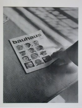 Meyer, Hannes View of the magazine Bauhaus-Zeitschrift, No. 2_3, 2nd year, 1928 being placed on a flat surface, Dessau, Germany, between 1928 and 1930
