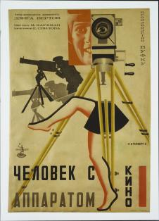 Vladimir Stenberg, (Artist), Russian, 1899-1982 Georgii Stenberg, (Artist), Russian, 1900-1933 Title Chelovek s Kinoapparatom (The Man with the Movie Camera) Work Type Graphic Design Date 1929 Material Lithograph Measurements 39 1_2 x 27 1_4'