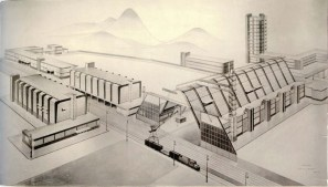 A. Zal'tsman. A. Vesnin's workshop. Movie Studio. Last course project 1926:1927. Photo