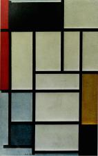 Composition with Red, Yellow and Blue 1921, oil on canvas, (80 × 50cm) Gemeentemuseum, The Hague