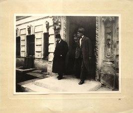 А.В. Луначарский, Д.И. Лещенко, Маяковский. 1918