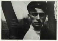 Кадр из фильма «Барышня и хулиган». Маяковский в роли Хулигана. Москва. 1918